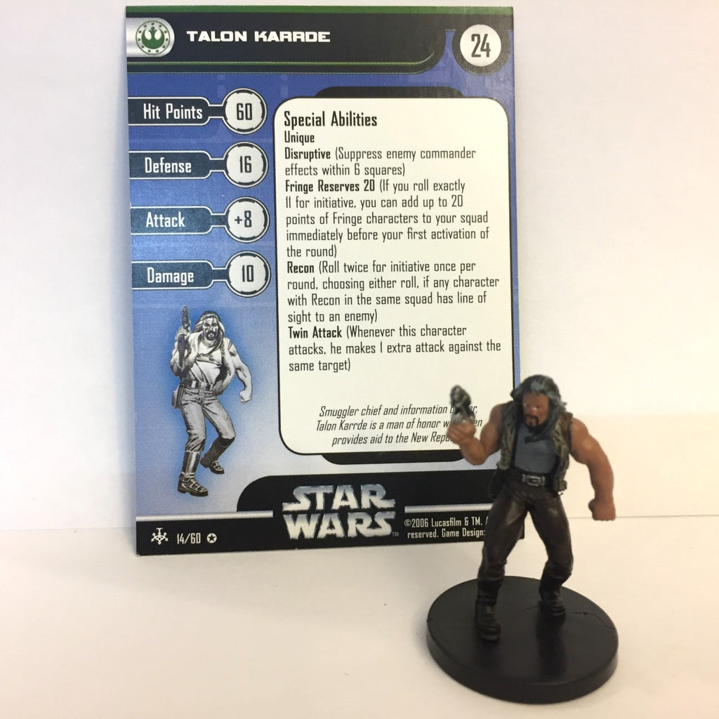 Star Wars Bounty Hunters #14 Talon Karrde (VR) Miniature