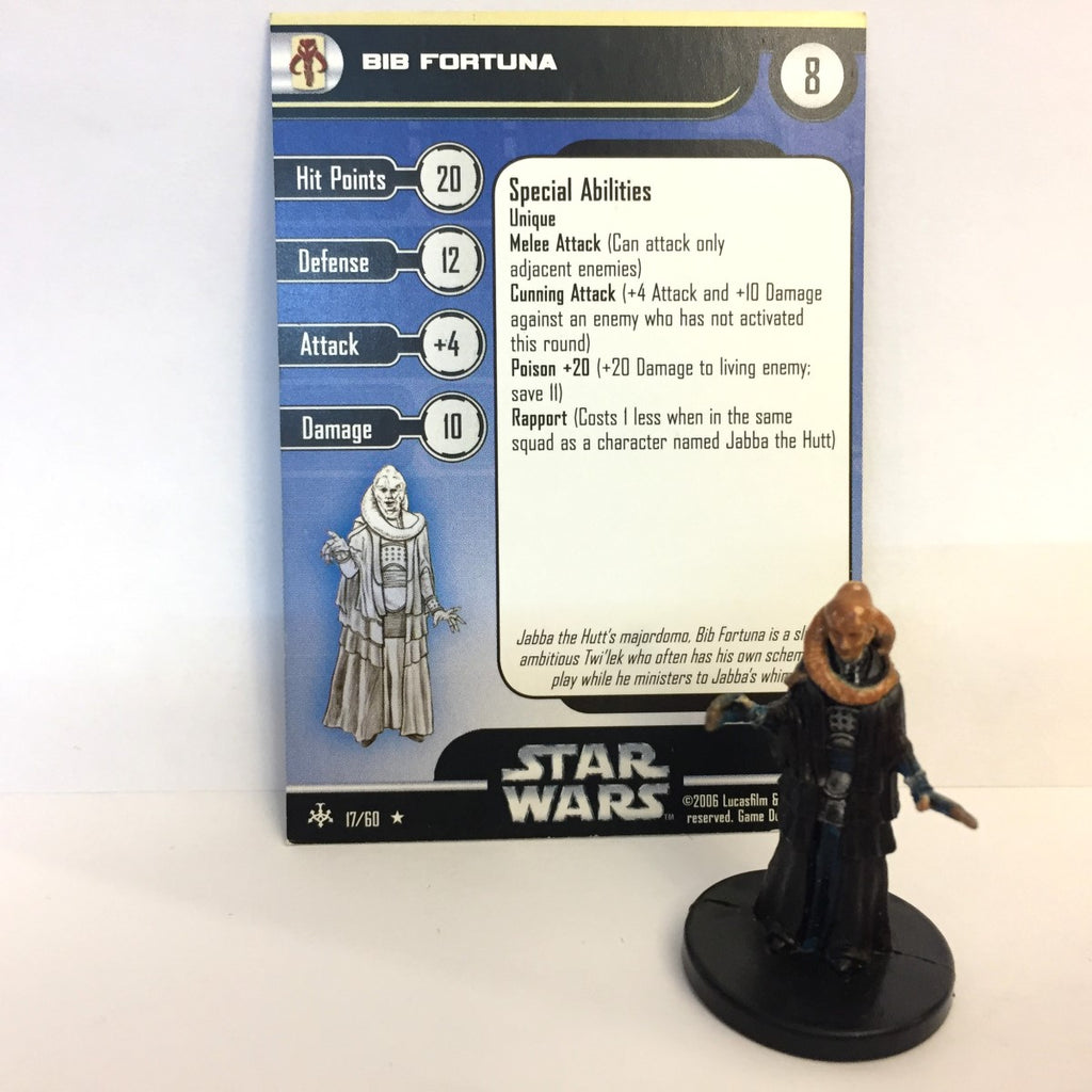Star Wars Bounty Hunters #17 Bib Fortuna (R) Miniature