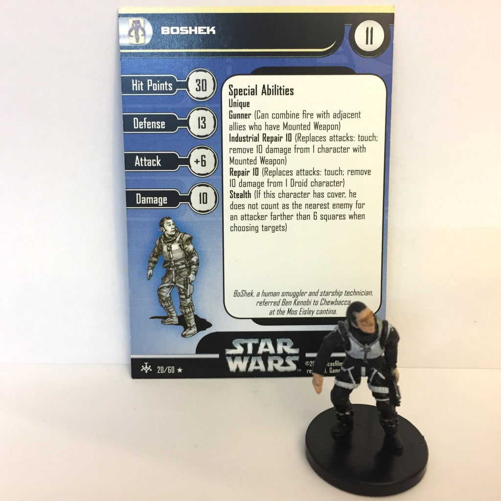 Star Wars Bounty Hunters #20 Boshek (R) Miniature