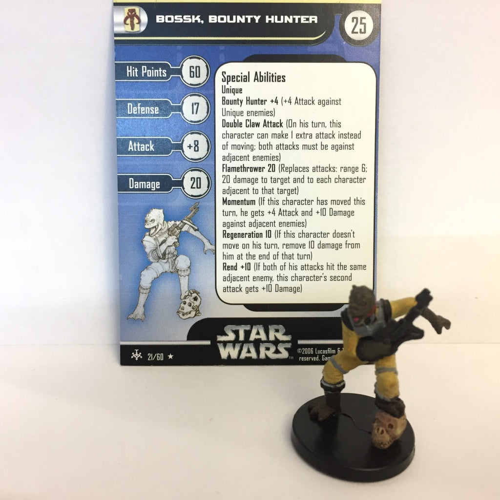 Star Wars Bounty Hunters #21 Bossk, Bounty Hunter (R) Miniature