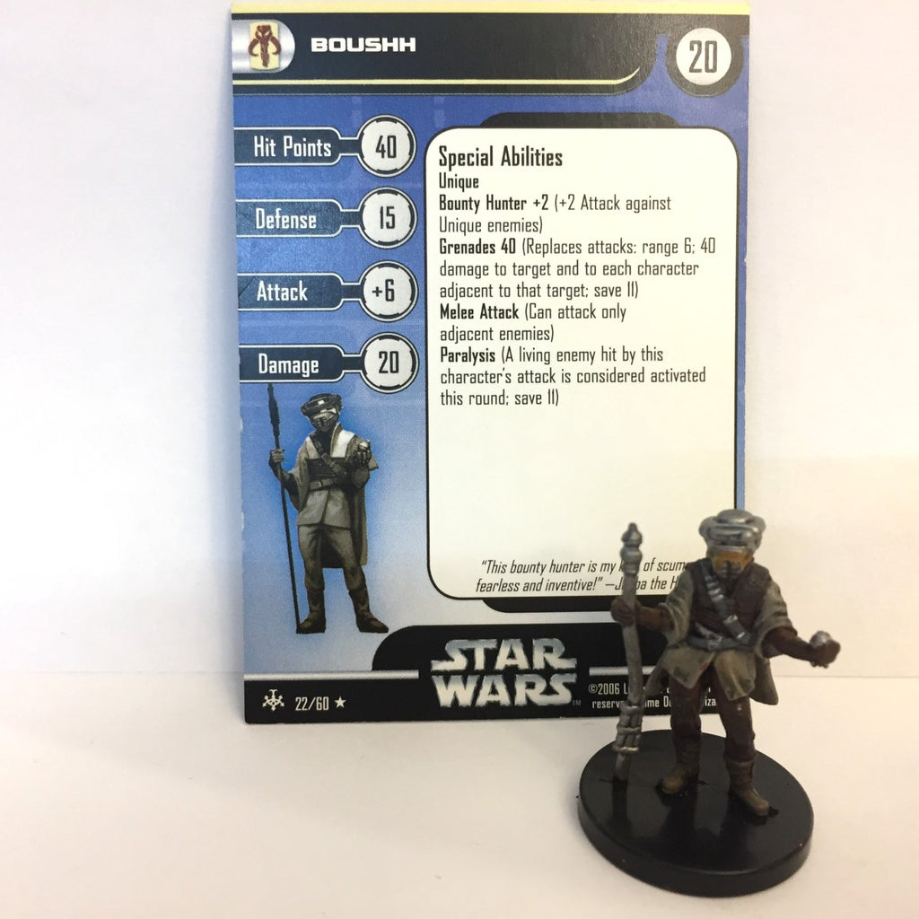 Star Wars Bounty Hunters #22 Boushh (R) Miniature