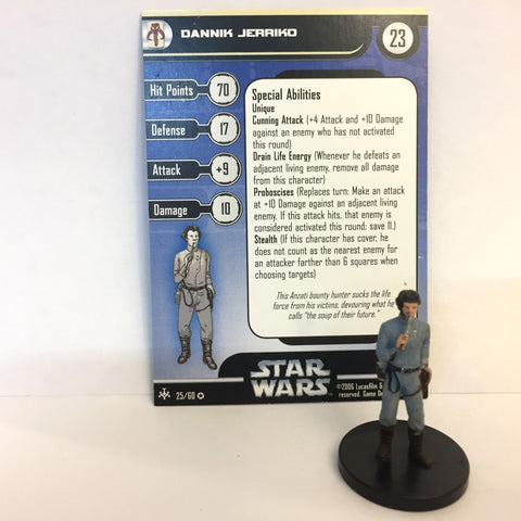 Star Wars Bounty Hunters #25 Dannik Jerriko (VR) Miniature