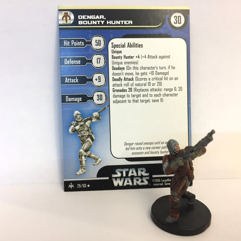 Star Wars Bounty Hunters #29 Dengar, Bounty Hunter (R) Miniature