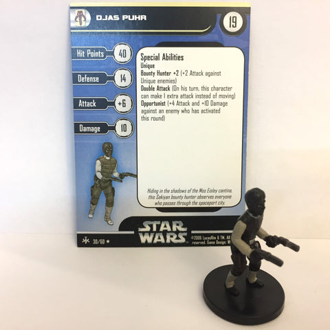 Star Wars Bounty Hunters #30 Djas Puhr (R) Miniature