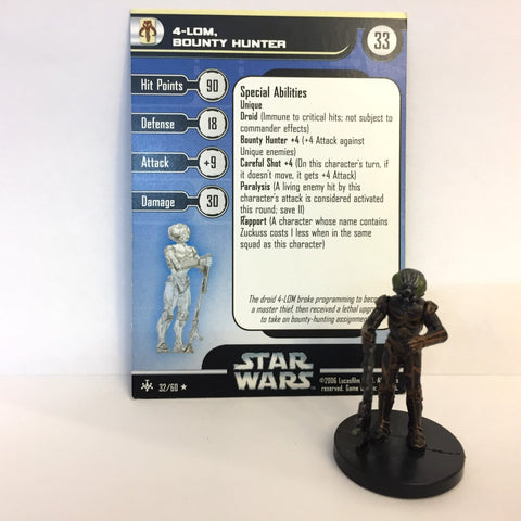 Star Wars Bounty Hunters #32 4-LOM, Bounty Hunter (R) Miniature