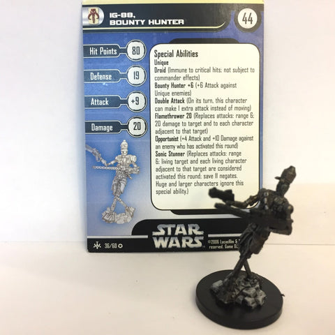 Star Wars Bounty Hunters #36 IG-88, Bounty Hunter (VR) Miniature