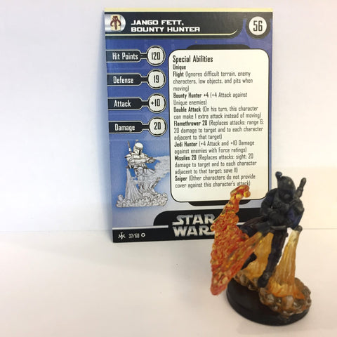 Star Wars Bounty Hunters #37 Jango Fett, Bounty Hunter (VR) Miniature