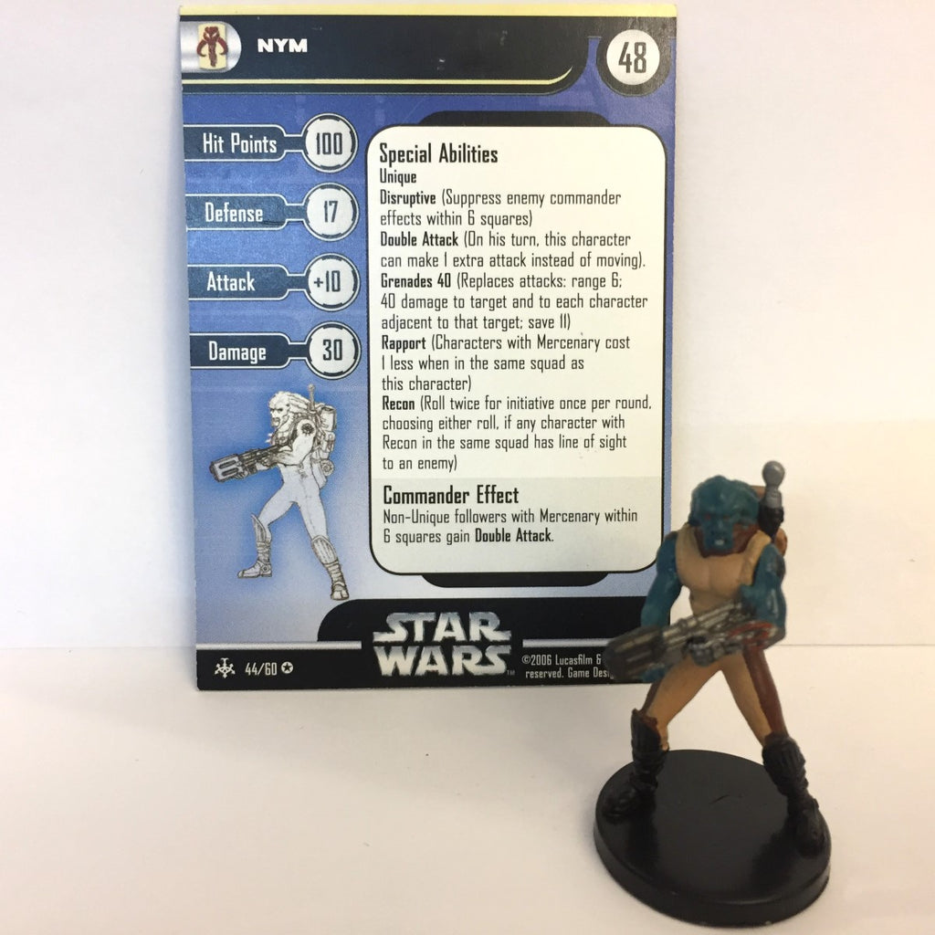 Star Wars Bounty Hunters #44 Nym (VR) Miniature