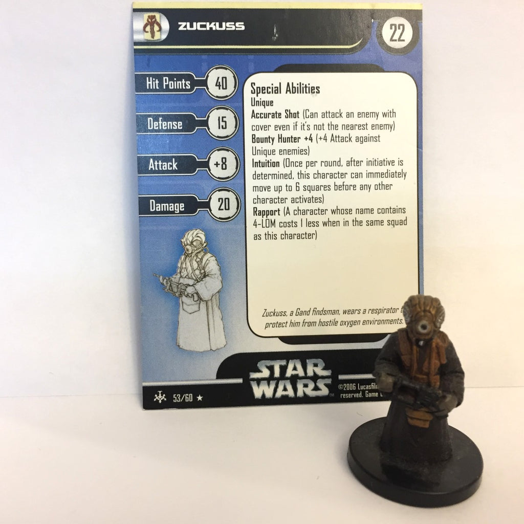 Star Wars Bounty Hunters #53 Zuckuss (R) Miniature