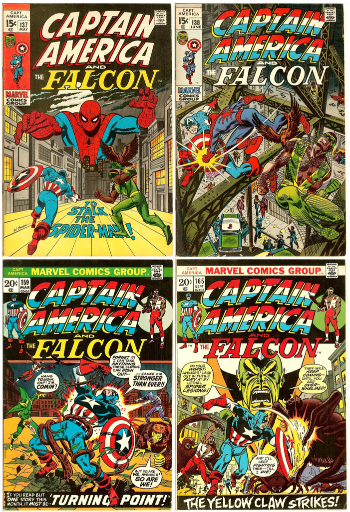 Captain America Comics ( Lot of 4 ) Vintage 1971-73 Grades 7.0 to 8.0