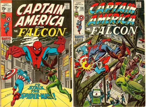 Captain America Comics ( Lot of 2 ) Vintage 1971 Grades 7.0