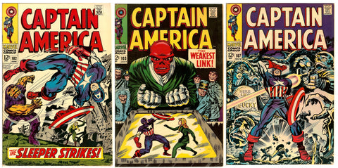 Captain America Comics ( Lot of 3 ) Vintage 1968 Grades 6.0 to 7.0