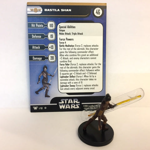 Star Wars Champions of the Force #1 Bastila Shan (VR) Miniature