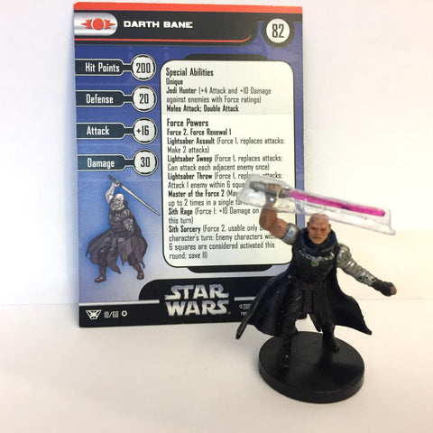 Star Wars Champions of the Force #10 Darth Bane (VR) Miniature