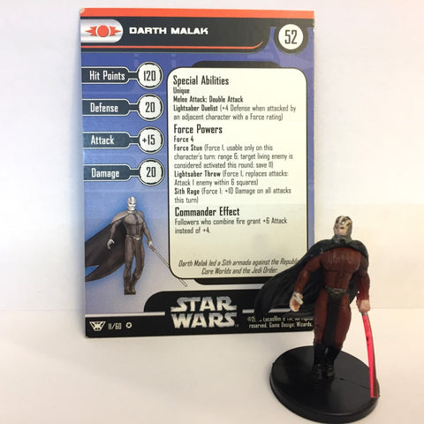Star Wars Champions of the Force #11 Darth Malak (VR) Miniature