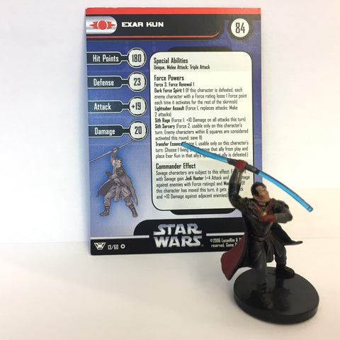 Star Wars Champions of the Force #13 Exar Kun (VR) Miniature
