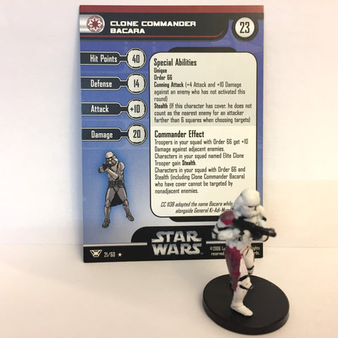 Star Wars Champions of the Force #21 Clone Commander Bacara (R) Miniature