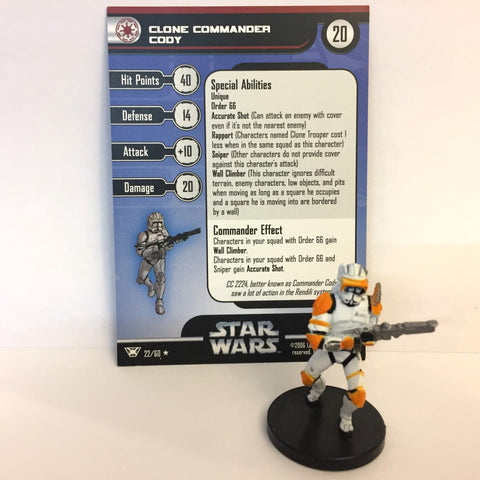 Star Wars Champions of the Force #22 Clone Commander Cody (R) Miniature