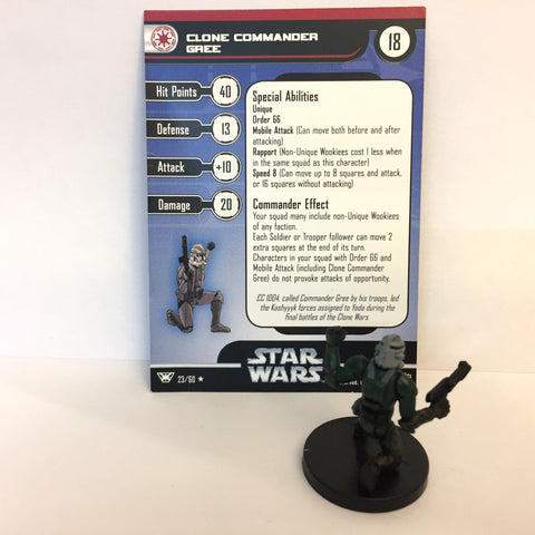 Star Wars Champions of the Force #23 Clone Commander Gree (R) Miniature