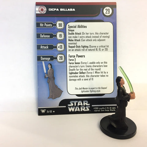 Star Wars Champions of the Force #24 Depa Billaba (R) Miniature