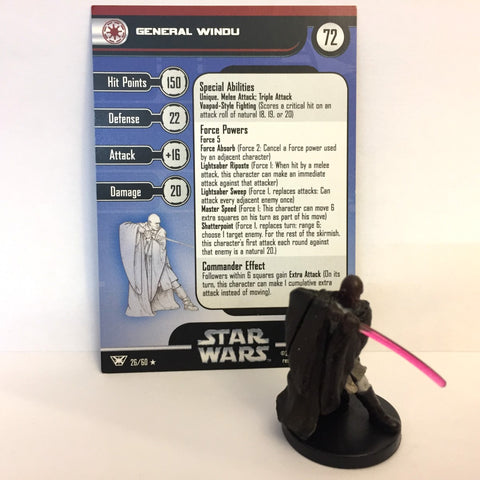 Star Wars Champions of the Force #26 General Windu (R) Miniature
