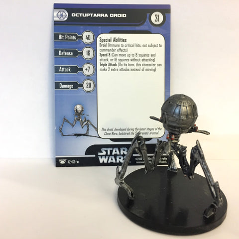 Star Wars Champions of the Force #42 Octuptarra Droid (R) Miniature