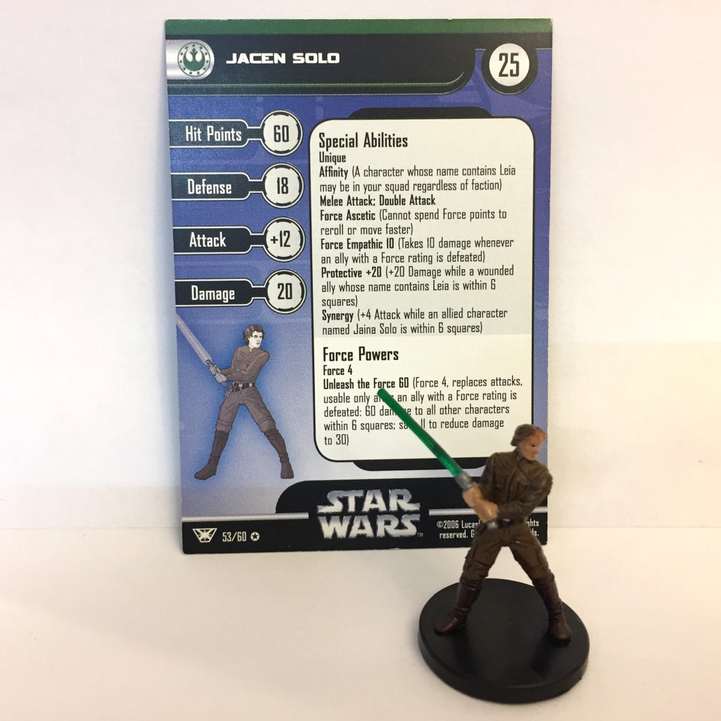 Star Wars Champions of the Force #53 Jacen Solo (VR) Miniature
