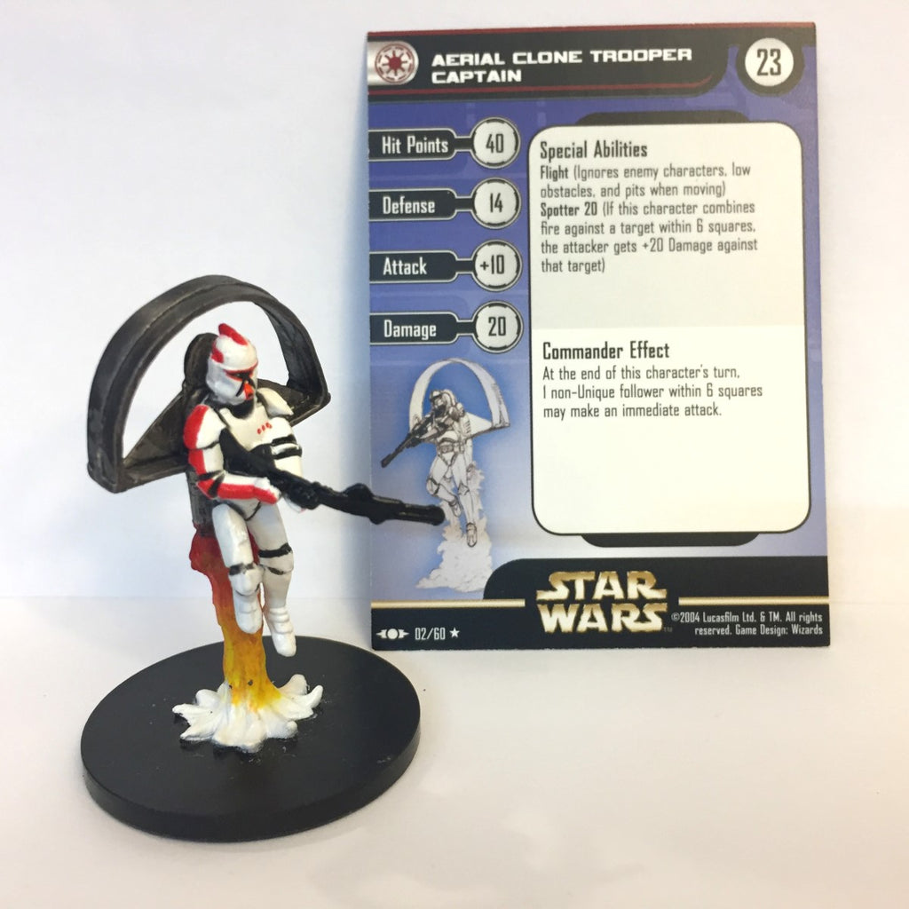 Star Wars Clone Strike #2 Aerial Clone Trooper Captain (R) Miniature