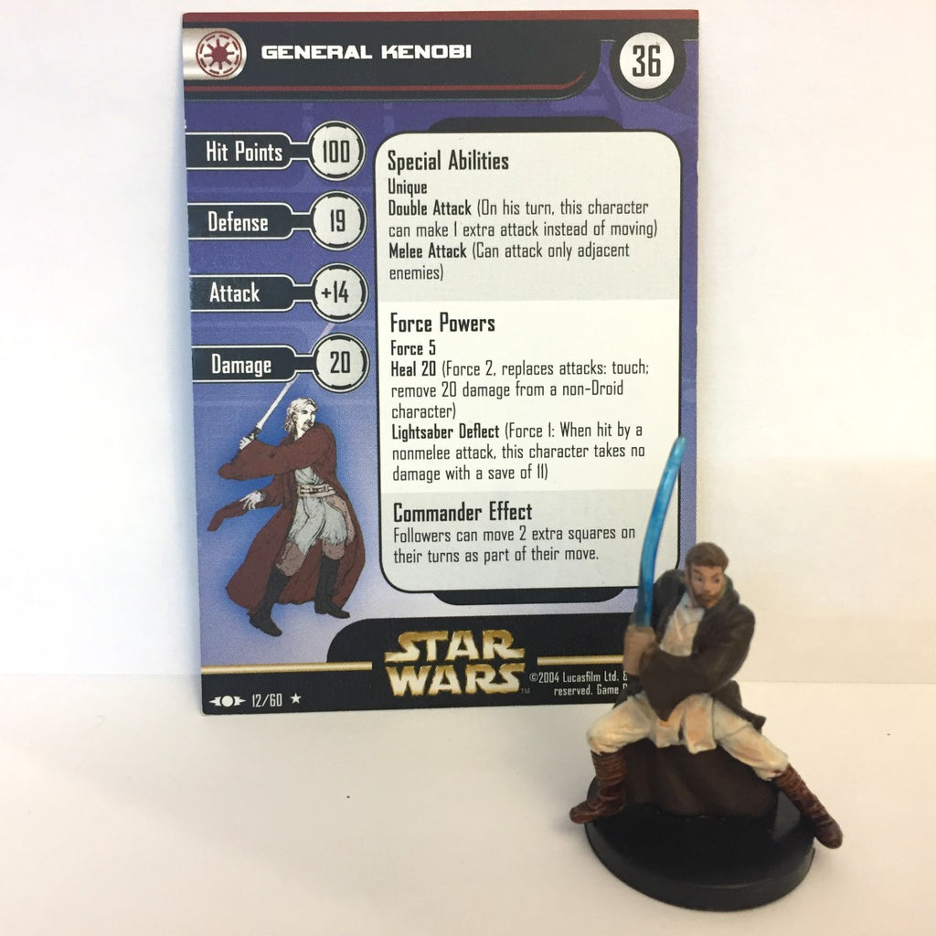 Star Wars Clone Strike #12 General Kenobi (R) Miniature