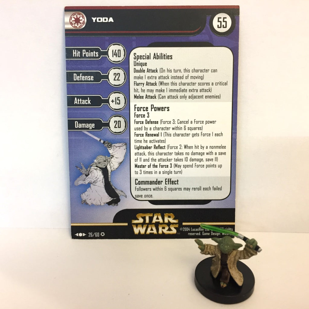 Star Wars Clone Strike #26 Yoda (VR) Miniature