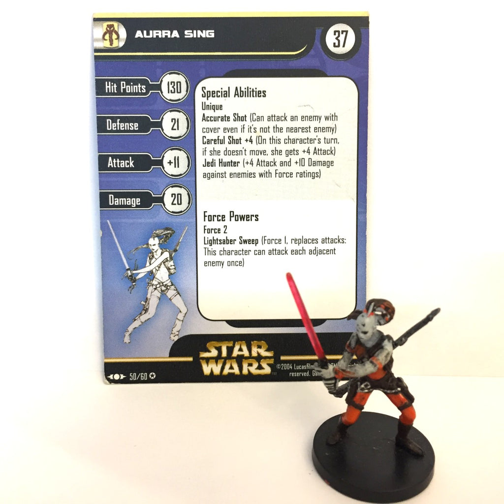 Star Wars Clone Strike #50 Aurra Sing (VR) Miniature