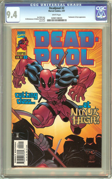 Deadpool #2 (1997) CGC 9.4 White Pages 0280138030