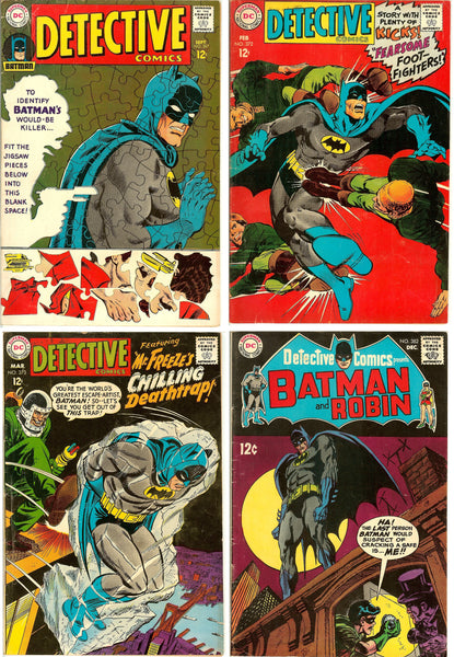 Detective Comics ( Lot of 4 ) Vintage 1967-68 FN- to FN+