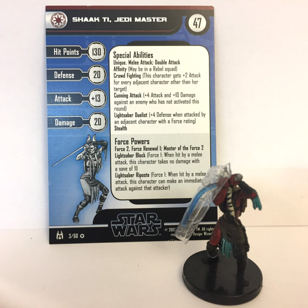 Star Wars Force Unleashed 03/60 Shaak Ti, Jedi Master (VR)