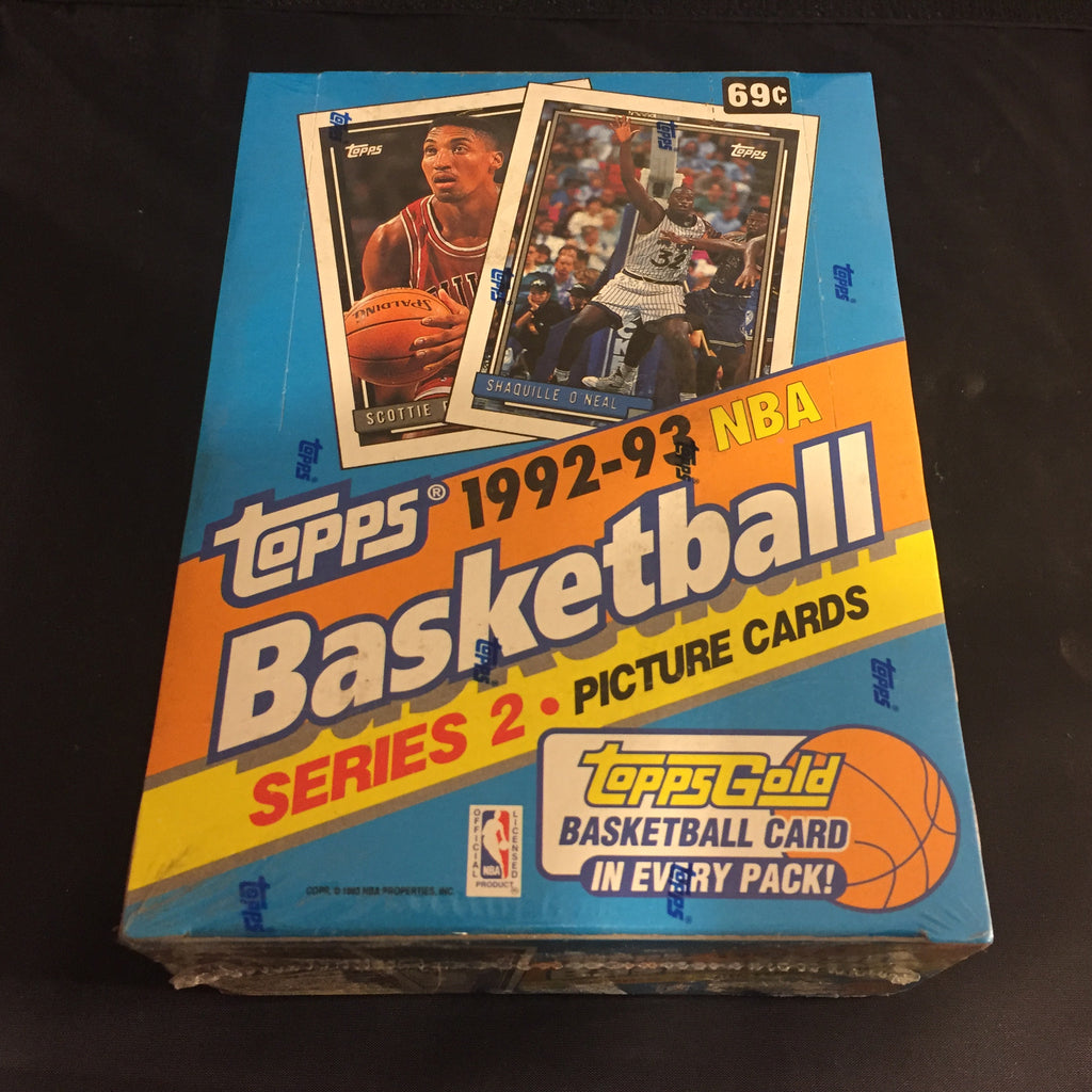 Topps 1992-93 NBA Basketball Series 2 Box (36 Packs)