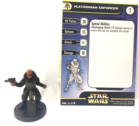 12X Star Wars Clone Strike 54/60 Klatooinian Enforcer (C) Miniatures