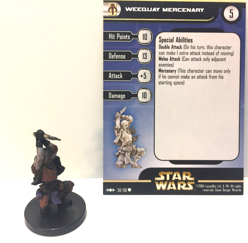 Star Wars Clone Strike 58/60 Weequay Mercenary (C) Miniature