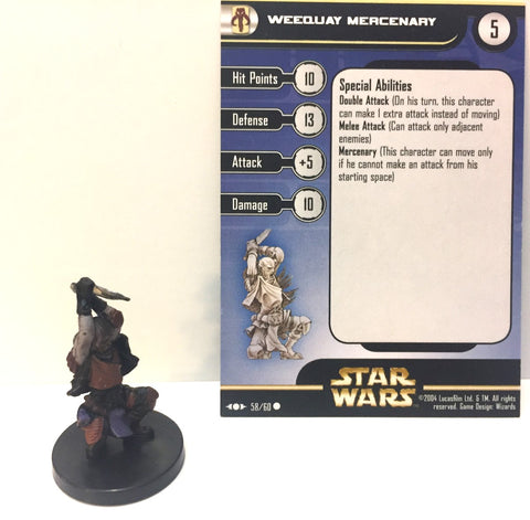 12X Star Wars Clone Strike 58/60 Weequay Mercenary (C) Miniatures