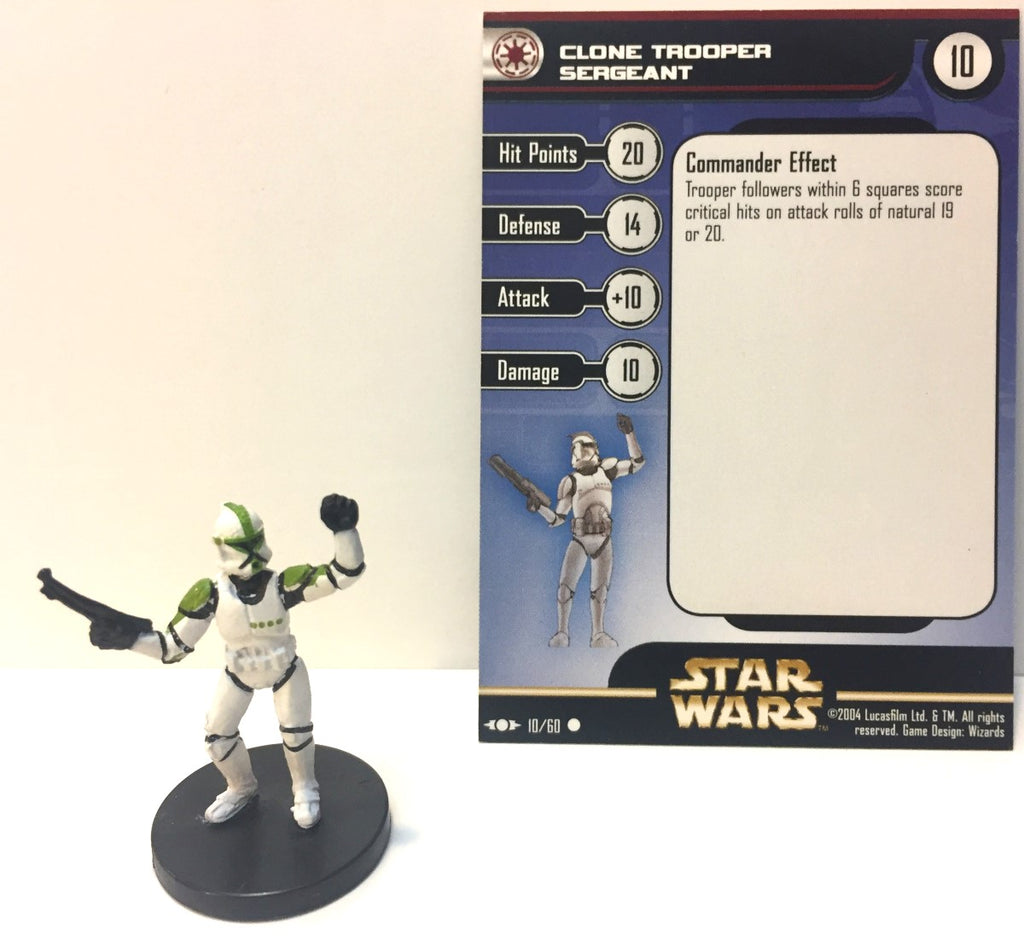 Star Wars Clone Strike 10/60 Clone Trooper Sergeant (C) Miniature