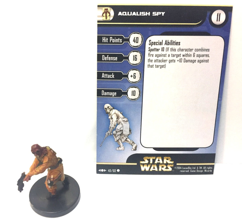 12X Star Wars Clone Strike 49/60 Aqualish Spy (C) Miniatures