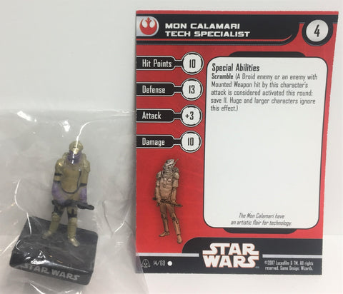 Star Wars Alliance & Empire 14/60 Mon Calamari Tech Specialist (C) Miniature