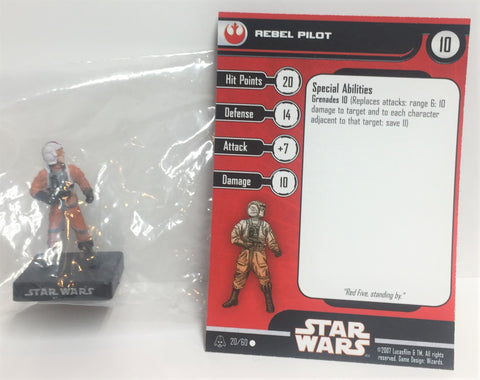 Star Wars Alliance & Empire 20/60 Rebel Pilot (C) Miniature