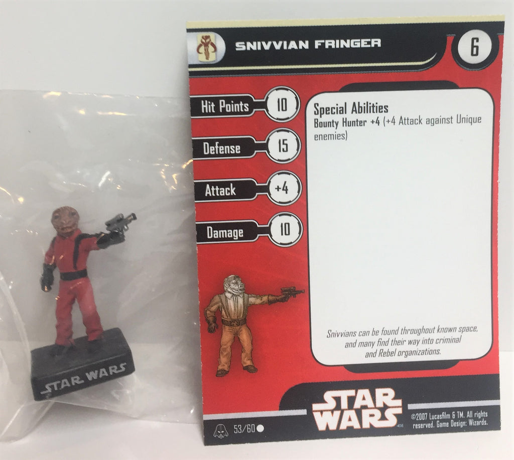 Star Wars Alliance & Empire 53/60 Snivvian Fringer (C) Miniature