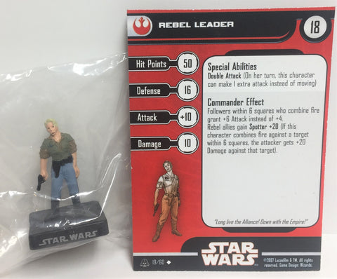 Star Wars Alliance & Empire 19/60 Rebel Leader (U) Miniature