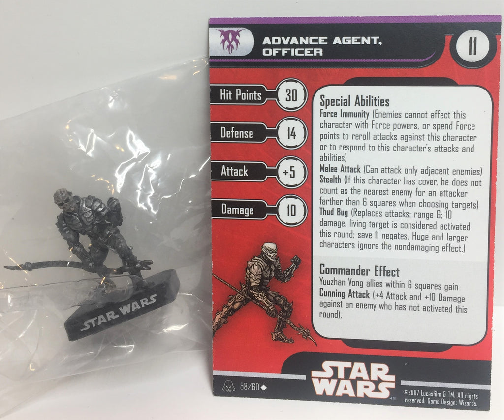 Star Wars Alliance & Empire 58/60 Advance Agent Officer (U) Miniature