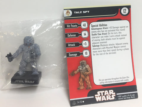 Star Wars Alliance & Empire 54/60 Talz Spy (U) Miniature