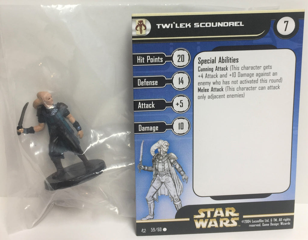 12X Star Wars Rebel Storm 59/60 Twi'lek Scoundrel (C) Miniatures