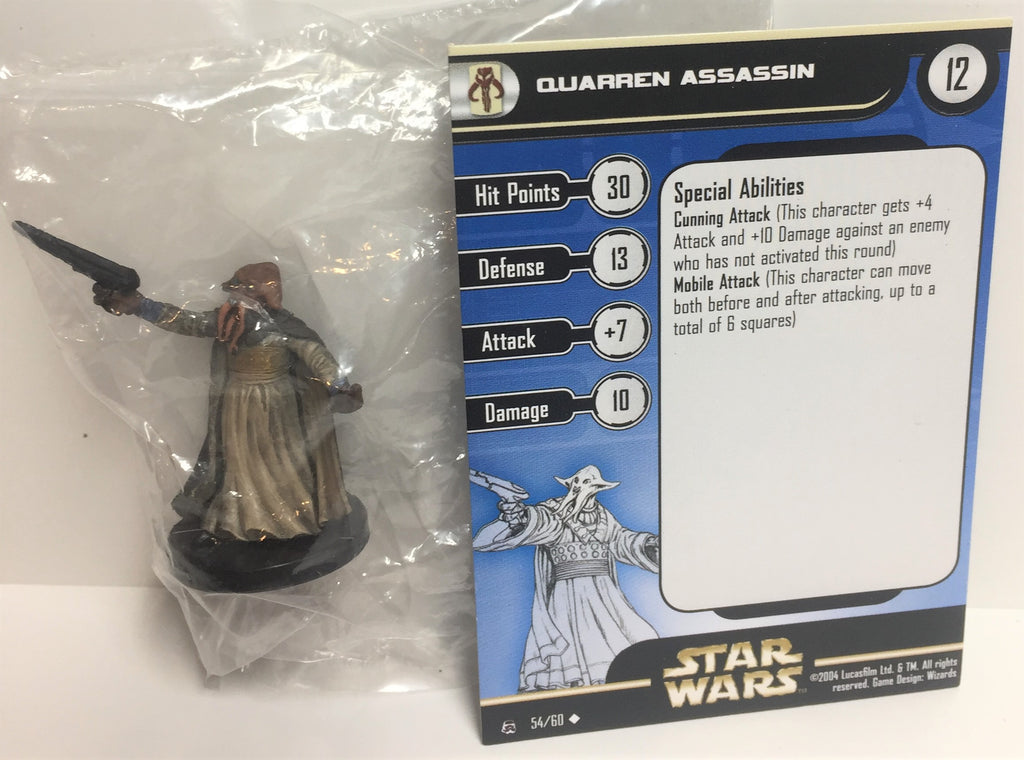 Star Wars Rebel Storm 54/60 Quarren Assassin (U) Miniature