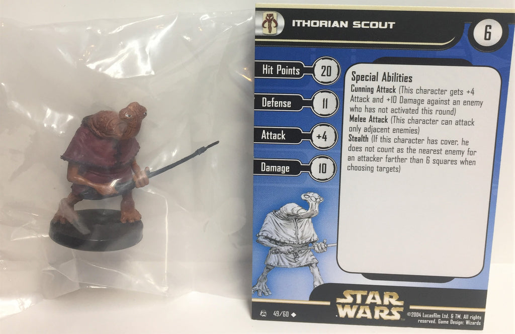 6X Star Wars Rebel Storm 49/60 Ithorian Scout (U) Miniatures