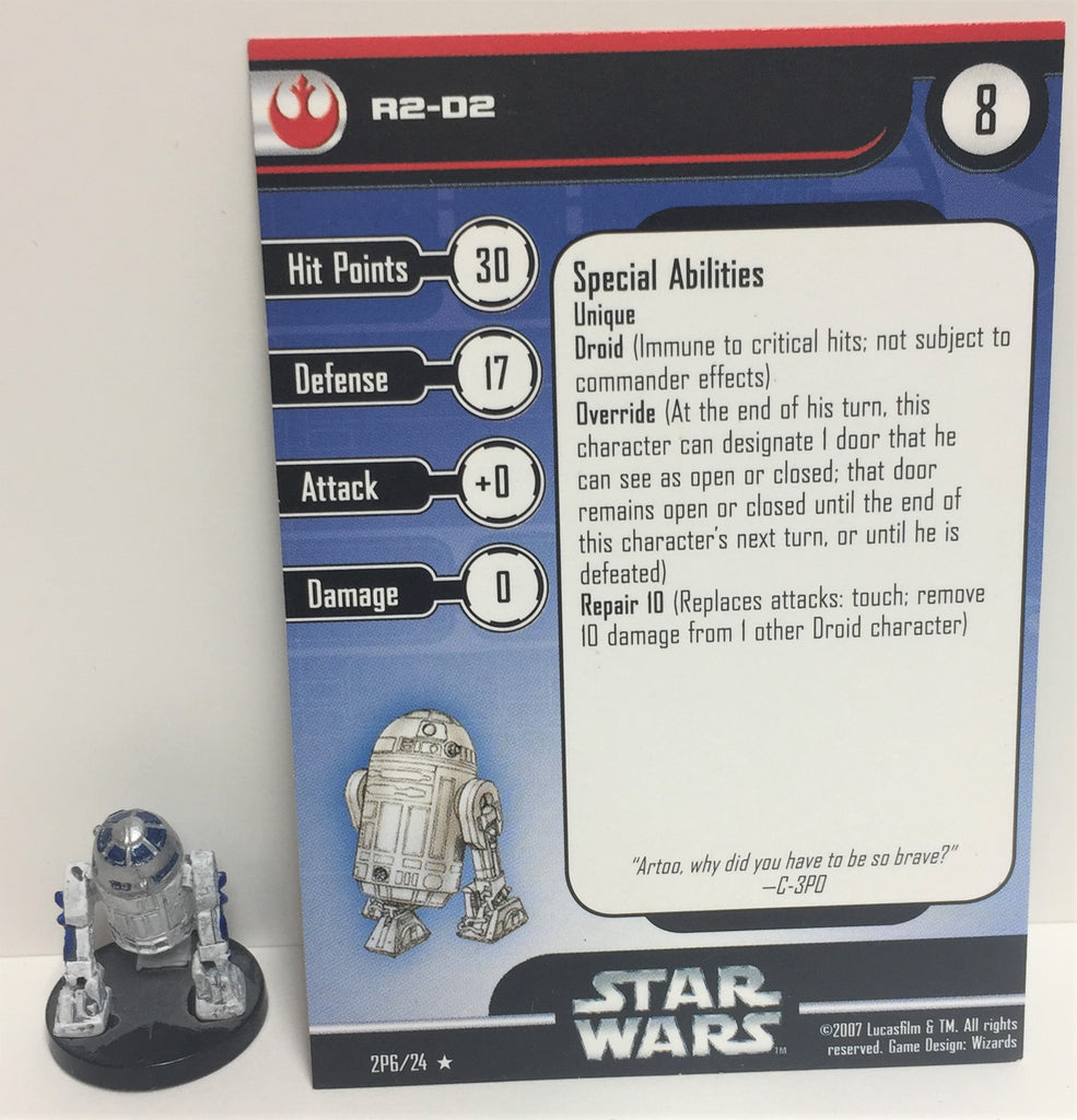Star Wars Rebels & Imperials 2P6/24 R2-D2 (R) Miniature